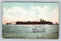 Charleston SC, View of Fort Sumter, Vintage South Carolina c1906 Postcard