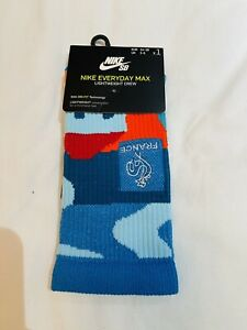 Nike SB Parra Dunk Skate Crew Socks - France Olympic Squad - Size: 2-5