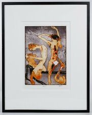 Rare Signed Horst Janssen Colored Etching Drollerei: Kestin the Youngest 1992