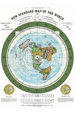 Gleason's 1892 Flat Earth Map - Alexander Gleason New Standard Map of the World