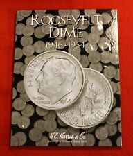 Complete Set Roosevelt Dimes 1946-1964 Circ. H.E. Harris Folder Book Album RD1