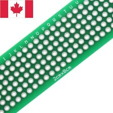 5 pcs Prototype PCB Perfboard Double Sided. DIY Circuit Board. 20x80mm. Canada