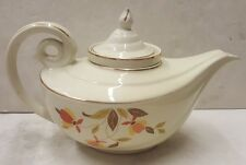 HALL'S Autumn Leaf ALADDIN TEA POT with Lid and Infuser Superior Jewel China