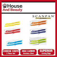 NEW Scanpan Soft Touch Spectrum 2 Piece Cheese Knife Set, Choose Your Colour