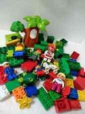 lot of Duplo blocks.people and tree