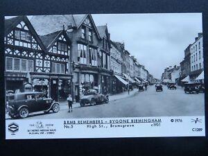 BIRMINGHAM Bromsgrove High Street 1931 RP Postcard by Pamlin C1289