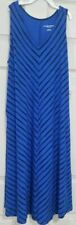 NEW Liz Lange Maternity Dress Blue Black Diagonal Stripe Sz Small S FREE SHIP