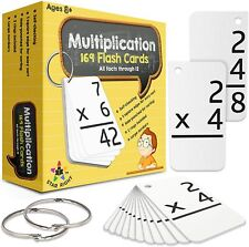 Star Right Multiplication with 2 Metal Binder Rings | 169 Flashcards