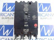Tey360 General Electric Tey 60 amp 480 volt bolt on Circuit Breaker Tested*