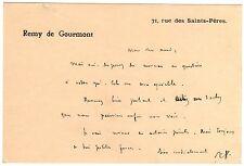 LAS Remy de Gourmont à Octave Uzanne - autographe - s.d. (?)