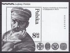 POLAND 2014 **MNH SC# S/S BLACKPRINT- The Polish Legions.Marshal Jozef Piłsudski