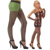 BLACK POT HOLE WHALE NET LEGGINGS GOTH  FOOTLESS  ALTERNATIVE PUNK