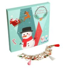 Christmas Advent Countdown Calendar With Fashion Bracelet Charms Set For Kids