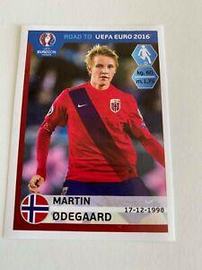 MARTIN ODEGAARD TRUE ROOKIE NORWAY STICKER 2016 - RARE RC