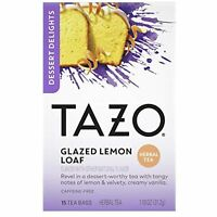 Tazo Glazed Lemon Loaf Dessert Delights Tea Bags Black Tea filterbags