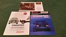 1988 / 1989 ISUZU TROOPER UK 24pg BROCHURE + 8pg BROCHURE +ACCESSORIES BROCHURE