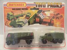 "1976 Matchbox Lesney Military Gas Tanker Radar Truck ""Two""Packs Die-Cast TP-14"