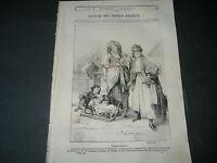 1844 LITOGRAFIA DI NAPOLI REGNO DELLE DUE SICILIE OCEANO COSTUMI POPOLO DALMATA