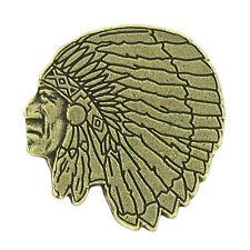 Indian Mascot Letterman Jacket Pin