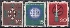Germany Bund BRD 1964 Mi 440/42 ** Technik Wissenschaft Science Chemie Atom