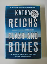 "KATHY REICHS signed ""Flash and Bones"" Book 1/1 HARDCOVER Temperance Brennan"
