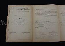 Rare Compagnie Chemin de Fer TRAIN PARIS LYON MEDITERRANEE plan 1897 PONT poutre