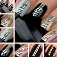 Hot 1000PCS 3D Design Nail Art Decoration Stickers Metallic Silver Studs