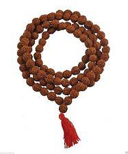 Rudraksha Mala 8mm Beads- 108+1 Beads Japa/ Mala 100% Natural