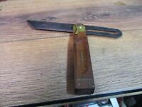 Vintage No 25 Stanley- 8 inch Sliding T Bevel Square TOOLS WOOD & BRASS USA