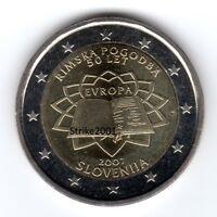 2 EURO COMMEMORATIVO SLOVENIA 2007 Trattato di Roma