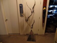 """Curtis Jere Flying Birds Sculpture Signed 1976  68"""" tall"""