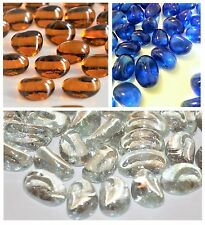 100 Decorative Glass Pebbles Stones Nuggets  Vases Wedding ***VARIETY OF COLOURS