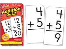 "Flash Cards Addition 0-12 - 91 Cards Boxed  Ages 6+  ""NEW""  ""FREE SHIPPING"""
