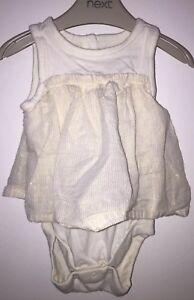 Girls 0-3 Months - Gap Beautiful Dress With Bodysuit Underneath