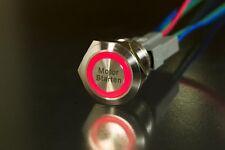 """LED Starterknopf rot Start Knopf Startknopf 22 mm Lasergravur: """"Motor Starten"""""""