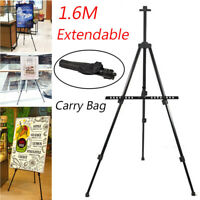 Telescoping Tripod Painting Artist Easel Drawing Display Stand Travelling Case