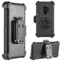 Shockproof Rugged Hybrid Armor Case Stand Holster Belt Clip for Galaxy S9 Plus