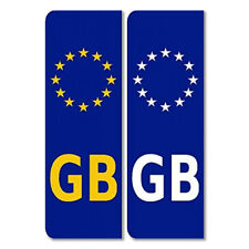 GB Euro Plate Sticker Pair Legal European Car Badge Vinyl EU