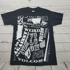 Volcom Shirt Size Small Mens Black Printed T-Shirt Used Condition