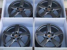 """19"""" Porsche 981 Cayman S Boxster S 19 Wheels Titanium Rims Factory OEM Original"""