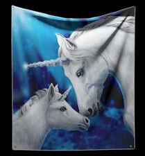 Kuscheldecke Einhörner - Sacred Love von Lisa Parker - Fantasy weiche Sofadecke