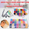 360  DIY Craft KAM Snaps T5 Snap Starter Plastic Poppers Fasteners&Pliers