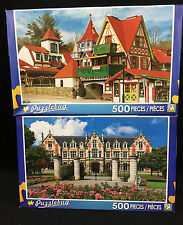 TWO Jigsaw Puzzles Puzzlebug 500 Pc Each Helen Georgia Wine Cellar Chateau 2014