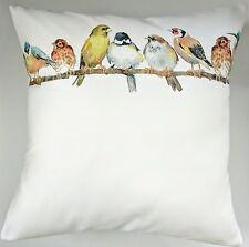 "Shabby Chic Cushion Cover in Laura Ashley Garden Bird Sateen 16"""