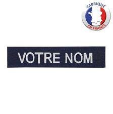 Bande patronymique personnalisée Fond Bleu Marine