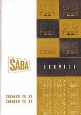 Service Manual Instructions for Saba Sabafon Tk 84/Tc 84