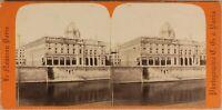 Parigi Court Del Commerce Francia Foto C.G.Stereo Vintage Albumina c1870