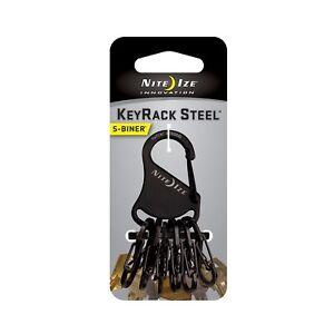 Nite Ize S-Biner KeyRack Black Stainless Steel Keychain Biner w/Steel S-Biners