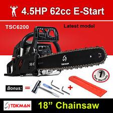 "New TDKMAN 62CC Petrol Chainsaw Chain Saw 18"" Inch Bar Tree Log Pruning Pruner"
