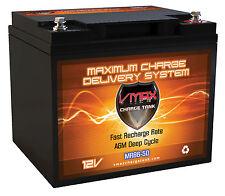 VMAX MR86-50 12V 50AH AGM Dp Cyc Battery for Berkley Saltwater 25lb Trolling Mtr
